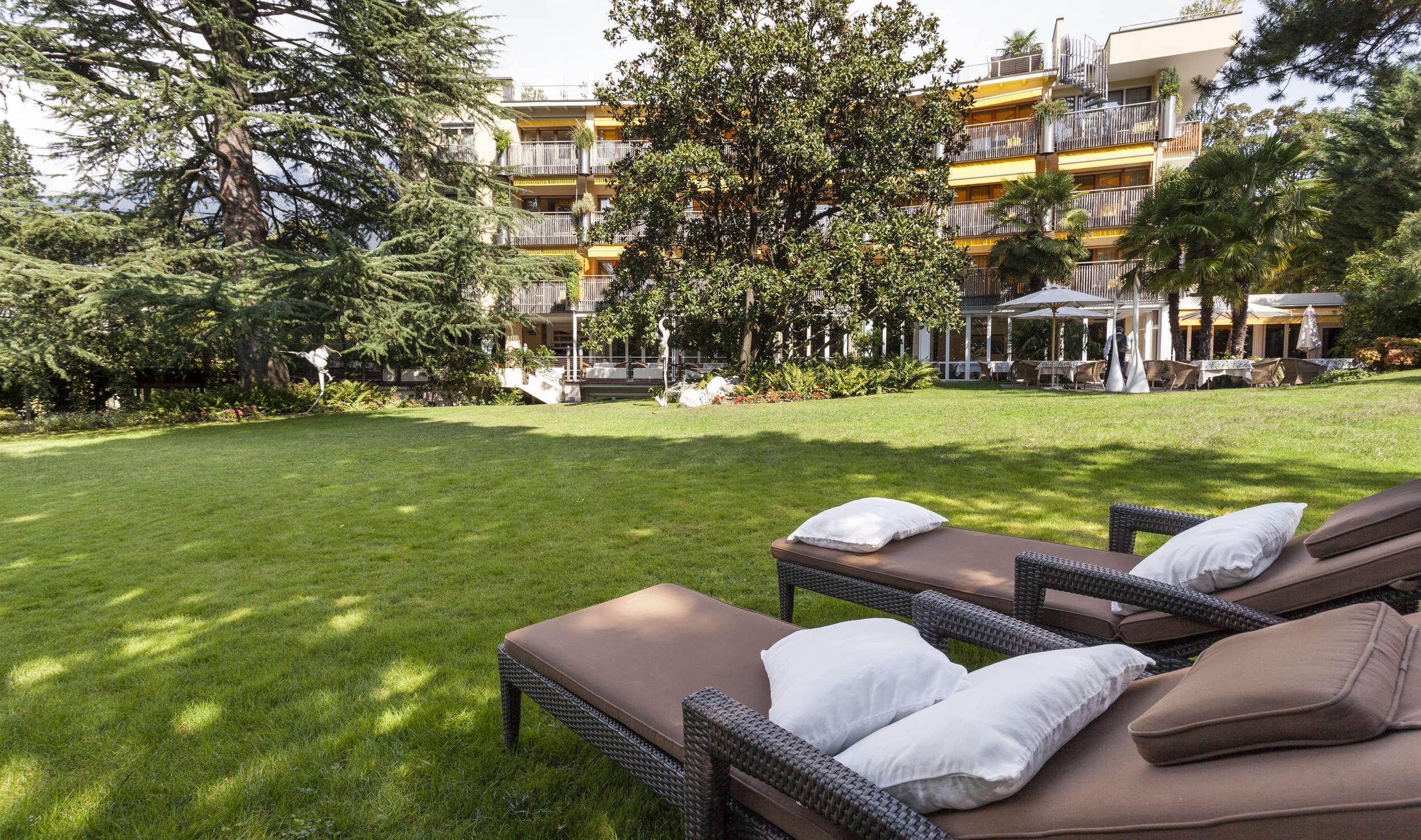 Parco Hotel Al Centro Di Merano Con Giardino